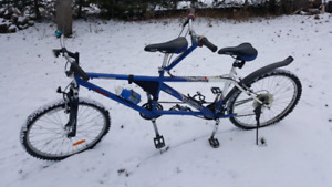 Bicycle built for two tandem bike