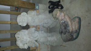 Selling 3 garden statues only 20 dollars