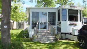 39 Foot Keystone Retreat Park Model Trailer with  Sun Room