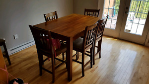 Expandable Dining Table w/6 Chairs