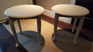 Chalk painted side tables