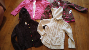 Dress Coat and 3 Sweaters - Size 3