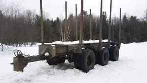 1997 Timmins log pup trailer