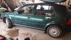Parting Out 2000 Volkswagen Golf TDI 5 speed