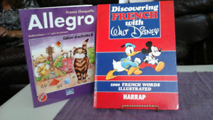 2 French Language Books - Discovering French & Grade 1 Math