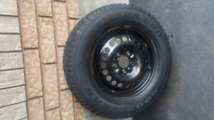 215/70 R15 Good year winter tries with  rims for sale