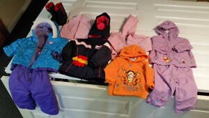 18-24 months jackets, snow suit, gloves and boots
