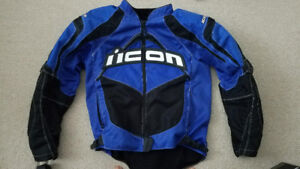 Icon Contra Motorcycle Jacket - Blue