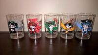 set of five Beijing olympics 2008 collectable glasses