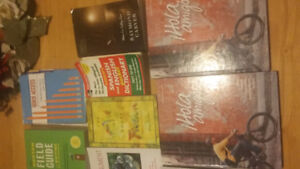 Assorted textbooks for college
