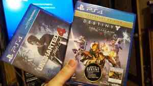 Uncharted 4 and Destiny Legendary edition sealed!