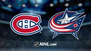 Hockey tickets Canadiens vs Blue Jackets Hard copy / en carton