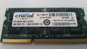 CRUCIAL 4GB DDR3 Laptop Memory Cambridge Kitchener Area image 2