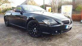 2004 54 BMW 645 4.4 Ci CONVERTIBLE.BLACK WITH RED LEATHER.JUST SERVICED AT BMW .