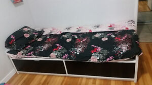 $225 Unused Twin Bed and Mattress, Ikea, assembled.