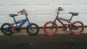 Many Boys Size 12 - 20 (Smaller Bikes with Training Wheels