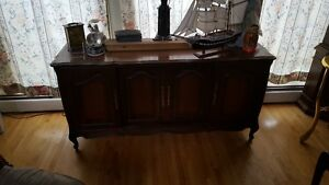 Antique/Vintage Fruitwood Stereo Cabinet