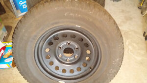 4 Winter Tires  265/70R17 . WITH RIMS