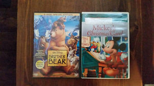 Disney Movies, Mickey Mouse Christmas Carol and Brother Bear