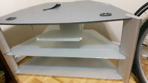 Tempered glass TV Stand