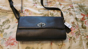 Danier black leather Taylor purse-- brand new