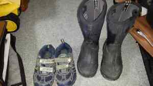Boys boots and shoes sizes 12,13 ,1 , 2