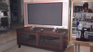 43 inch screen T.V. and stand
