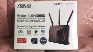 NEW Asus AC86U AC2900 2.4/5GHz Wifi USB3.1 Networking Router