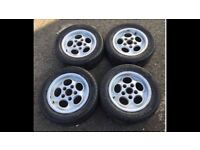 "Porsche 944 tele dial alloy wheels alloys teledial 15"" 911 928 vw t25 lupo golf camper Staggered"