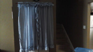 Powder blue curtains