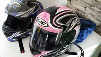 casque de moto pour femme