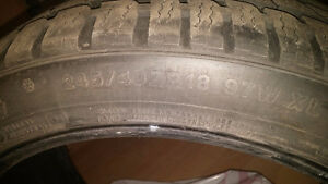 4 pneus hiver 4 winter tires 245 40 18 200$ !!! West Island Greater Montréal image 3