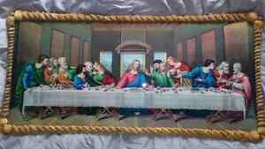 glass Last Supper 31inchesx16 inches