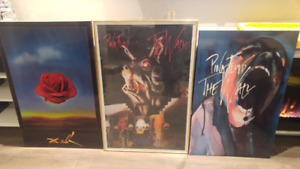 Pink Floyd and Salvador Dali posters
