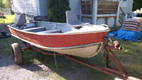 14' Springbok boat with trailer and 7.5 Mercury