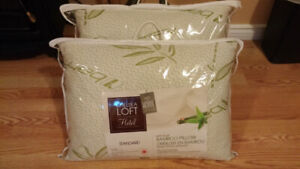 2 Bamboo Pillows with Carrying Case