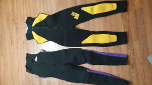 Ladies size 10 and 12 wetsuits