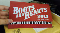 1 GA Boots and Hearts Wristband - Unregistered!