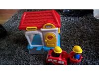 Little Tikes Fire Station and Fire Fighters children's toy