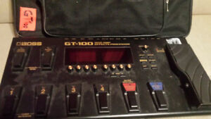 Selling GT100 Boss W/ free gigbag!