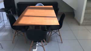BoConcept dining table ($1700) and sideboard ($900)