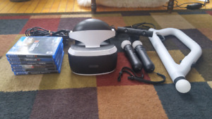 PlayStation VR with 6 Games and Controllers