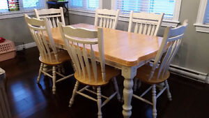 7 Piece Solid Wood Dining / Kitchen Table Set