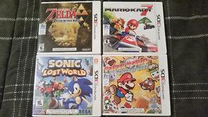 Zelda Mario Sonic Nintendo 3DS