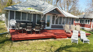 $500 Lakefront cottage/cabin rent/rental Wpg beach
