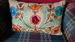 Pier 1 zippered toss cushions EUC
