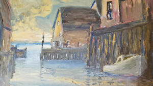 Nelson Surette - Nova Scotia Painter - Harbour Scene