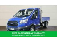 2015 65 FORD TRANSIT DROPSIDE TIPPER 6 SPEED TDCI 1 STOP ALLOY BODY FINISHED IN