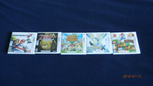 5 Nintendo 3DS Games (Used)