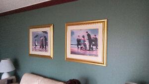 Pair of Large Decorative Jack Vettriano Framed Prints